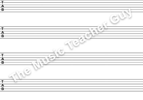 Blank Bass Clef Staff Paper Musical Intervals