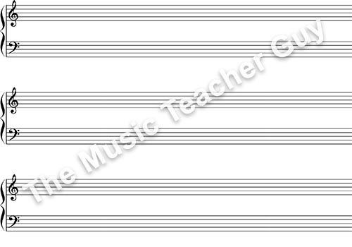 Musical Intervals piano staff paper
